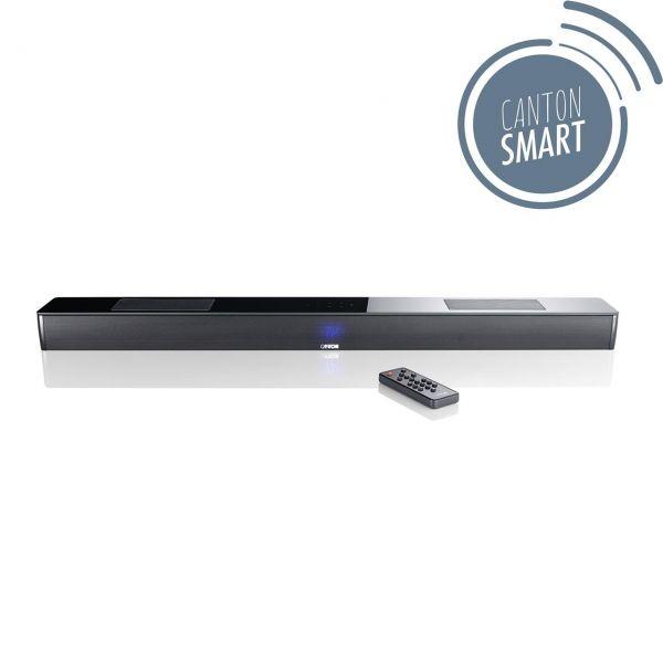 Canton Smart Soundbar 10 schwarz seidenmatt mit Glasplatte
