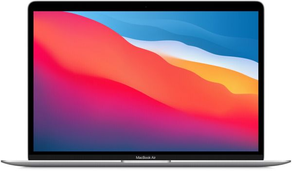 Apple MacBook Air (M1, 2020) MGN93D/A Silber Apple M1 Chip mit 8-Core CPU, 8GB RAM, 256GB SSD
