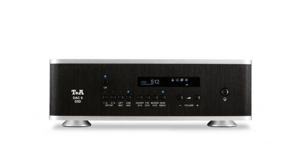 T+A DAC 8 DSD schwarz-silber V 2.2 High-End D/A Converter inkl. F8