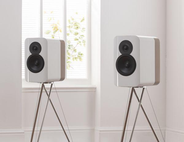 Q Acoustics CONCEPT 300 Weiß-Eiche (Paar mit Standfuß)
