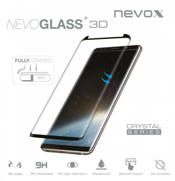 Nevox 1476 Nevoglass 3D Samsung S8 Plus Curved schwarz
