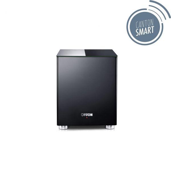 Canton Smart Sub 8 schwarz seidenmatt mit Glasplatte