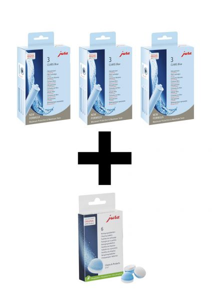 Jura Claris blue Filter + Reinigungstabletten