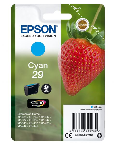 Epson Strawberry Singlepack Cyan 29 Claria Home Ink
