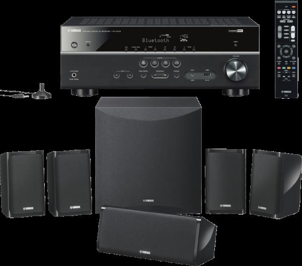 Yamaha YHT-2950  5.1 Home Cinema Set schwarz 4K, HDR, Bluetooth