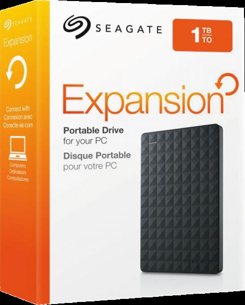 Seagate Expansion Portable 1TB 1000GB Schwarz Externe Festplatte