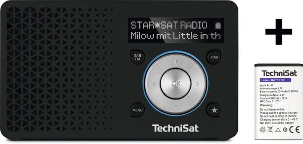 TechniSat DigitRadio 1 schwarz/silber - inkl. Ersatz-Akku