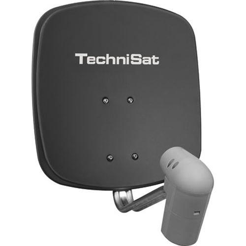 TechniSat Satman 45 grau + UnySat Twin LNB inkl. AZ/EL Halterung