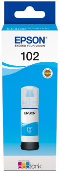 Epson 102 EcoTank Cyan ink bottle