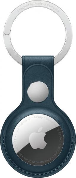 Apple AirTag Schlüsselanhänger aus Leder, Baltischblau