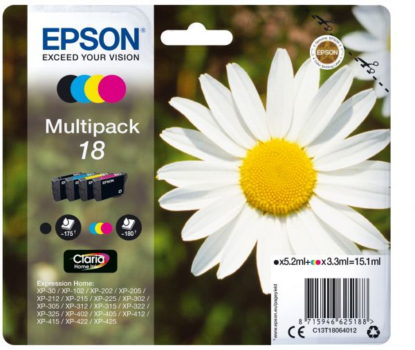 Epson Daisy Multipack 4 Farben 18 Claria Home Ink