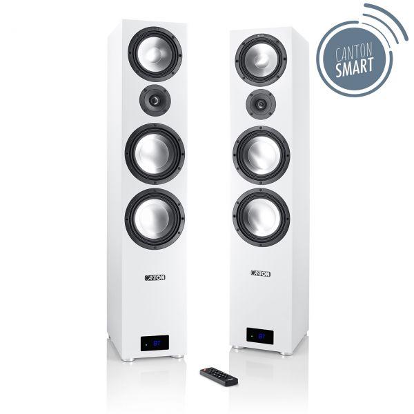 Canton Smart GLE 9 Set Weiss, Wireless Aktiv-Lautsprecher Bluetooth, USB, Paarpreis