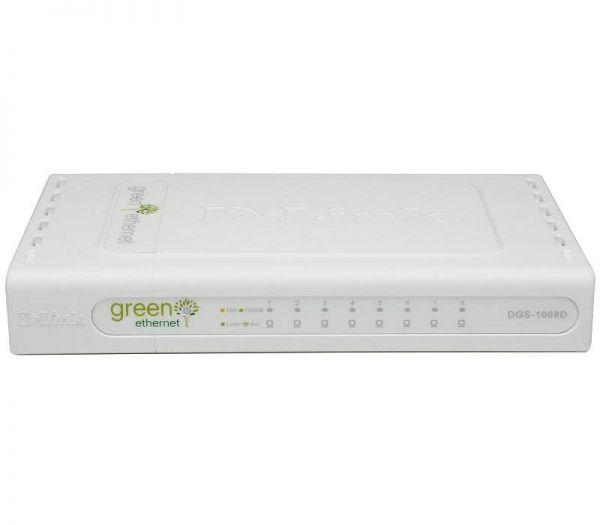 D-Link DGS-1008D/E Nicht verwalteter Netzwerk-Switch Weiß Netzwerk-Switch
