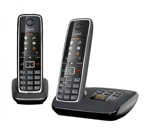 Gigaset C 530 A Duo Schnurlostelefon mit Anrufbeantworter