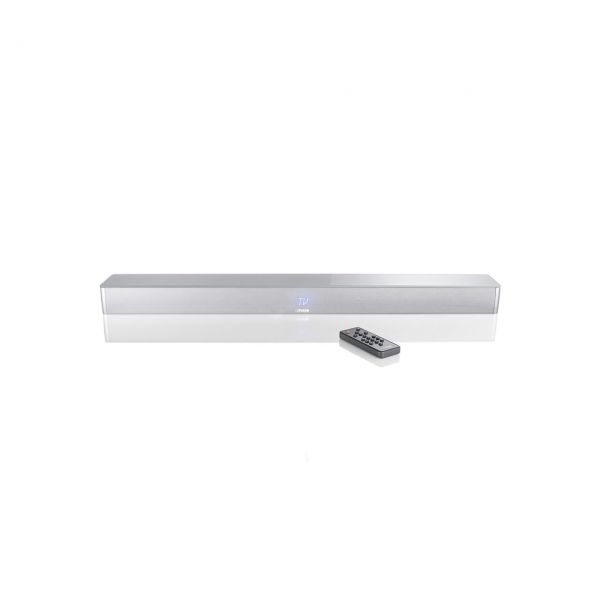 Canton Smart Soundbar 9 silber seidenmatt mit Glasplatte