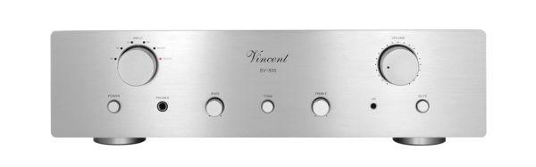 Vincent SV-500 silber, Hybrid Stereo Vollverstärker