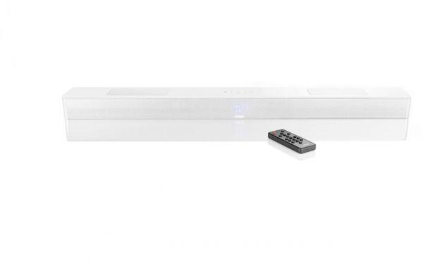Canton Smart Soundbar 10 weiss seidenmatt mit Glasplatte
