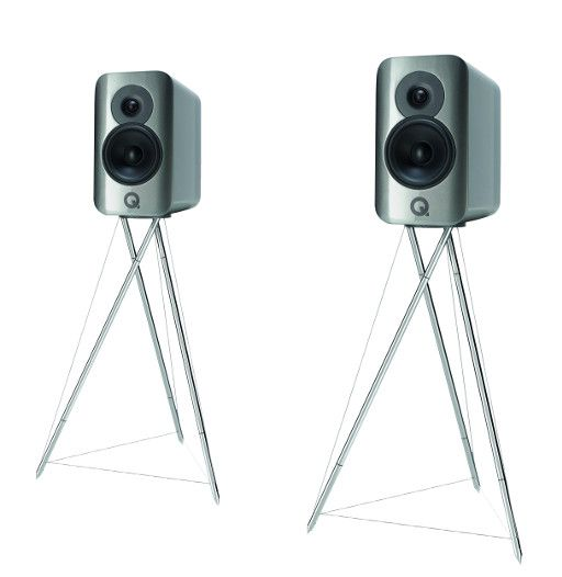 Q Acoustics CONCEPT 300 Hgl. Silber-Ebenholz (Paar mit Standfuß)